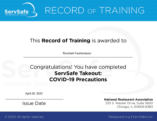 Record tranning Delivery